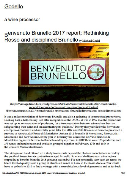 Benvenuto Brunello 2017 report: Rethinking Rosso and disciplined Brunello
