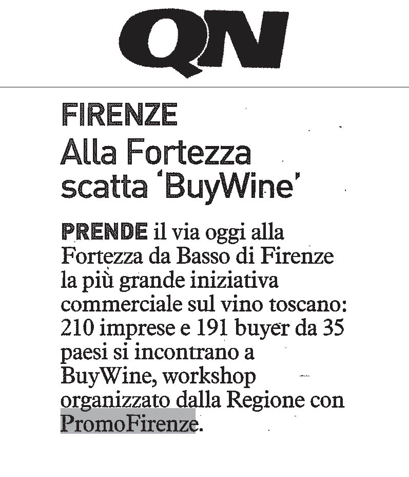 Firenze alla Fortezza scatta 'Buy Wine'